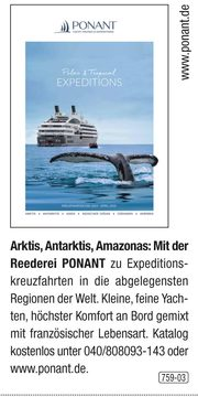 Expeditionen by Ponant - Arktis, Antarktis, Amazonas