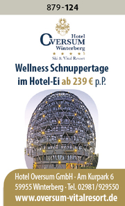 Oversum Winterberg – Wellnessschnuppern